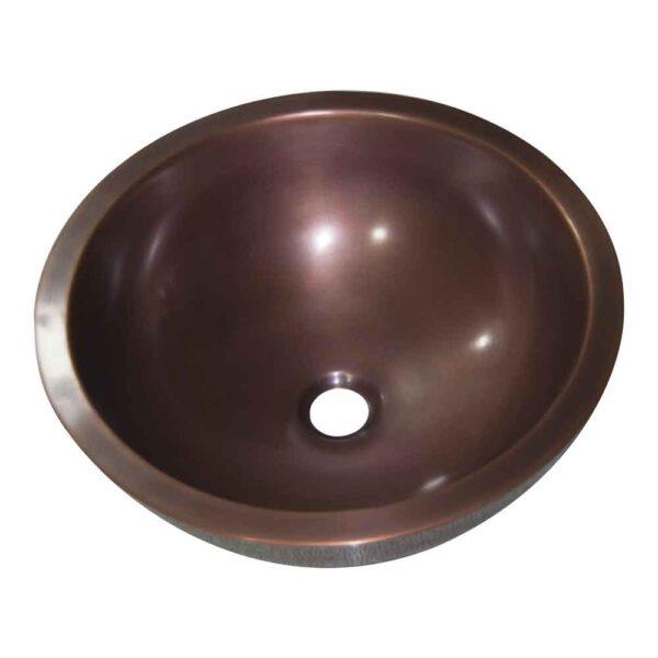 Rice Hammered Copper Sink