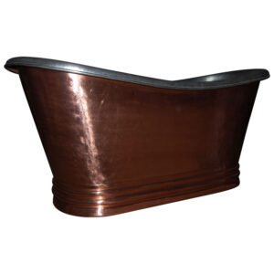 Freestanding Copper Bathtub Nickel Inside
