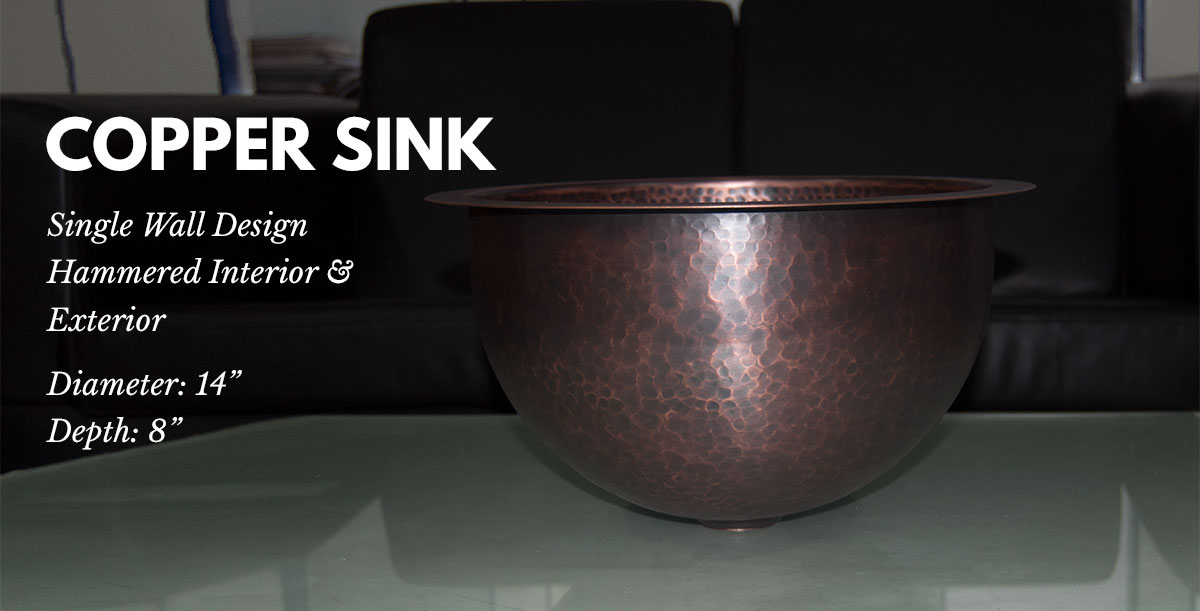 Copper Sink 14x8