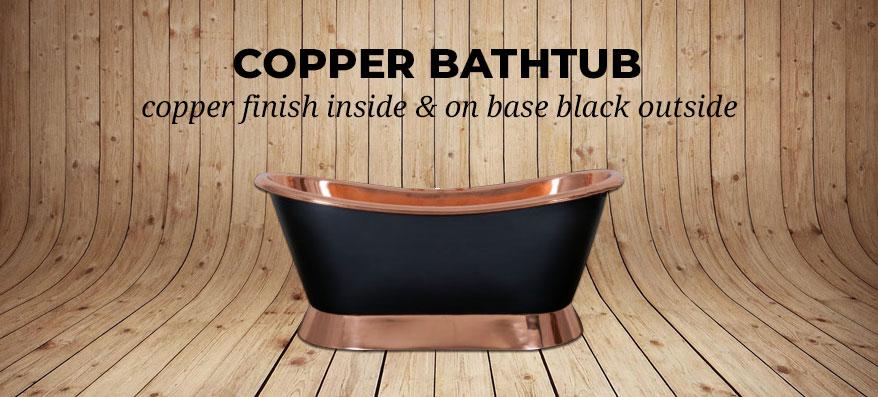 Copper Bathtub Black Outside