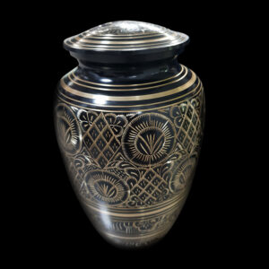 Black Brass Cremation Urn