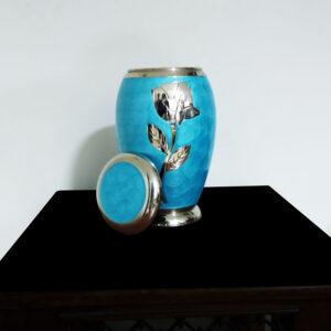 Blue Brass Cremation Urn