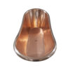 Copper Bathtub RAL 6004 Blue-Green Exterior & Brass Clawfoot Legs