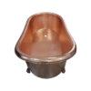 Clawfoot Copper Tub Hammered Single Slipper