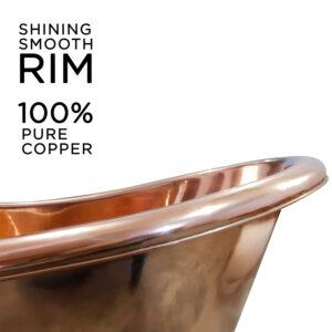 Copper Clawfoot Tub Full Copper Finish