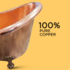 Clawfoot Copper Tub Hammered Single Slipper