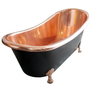 Clawfoot Copper Bathtub Black Outside