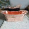 Straight Base Full Copper Bathtub Big Size 74x28x28