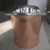 Straight Base Copper Bathtub Nickel Inside Big Size
