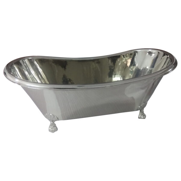 Clawfoot Copper Bathtub Full Nickel Finish