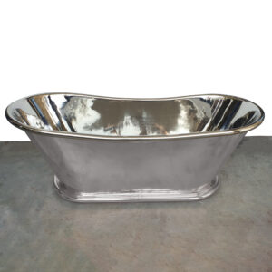 "Copper Bathtub Nickel Finish Inside & Outside 70"" x 29"" x 27"""
