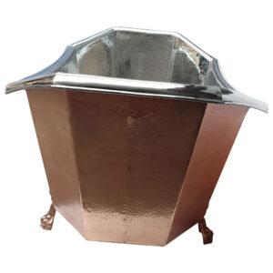 Eight Sided Clawfoot Copper Bathtub Nickel Inside