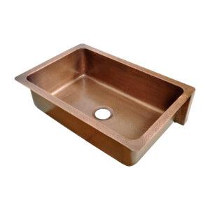 Single Bowl Five Grape Front Apron Copper Kitchen Sink