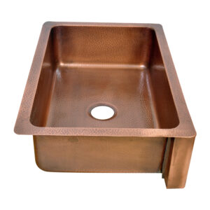Single Bowl Petal Front Apron Copper Kitchen Sink