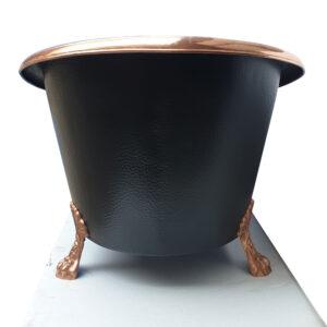 Hammered Clawfoot Copper Bathtub