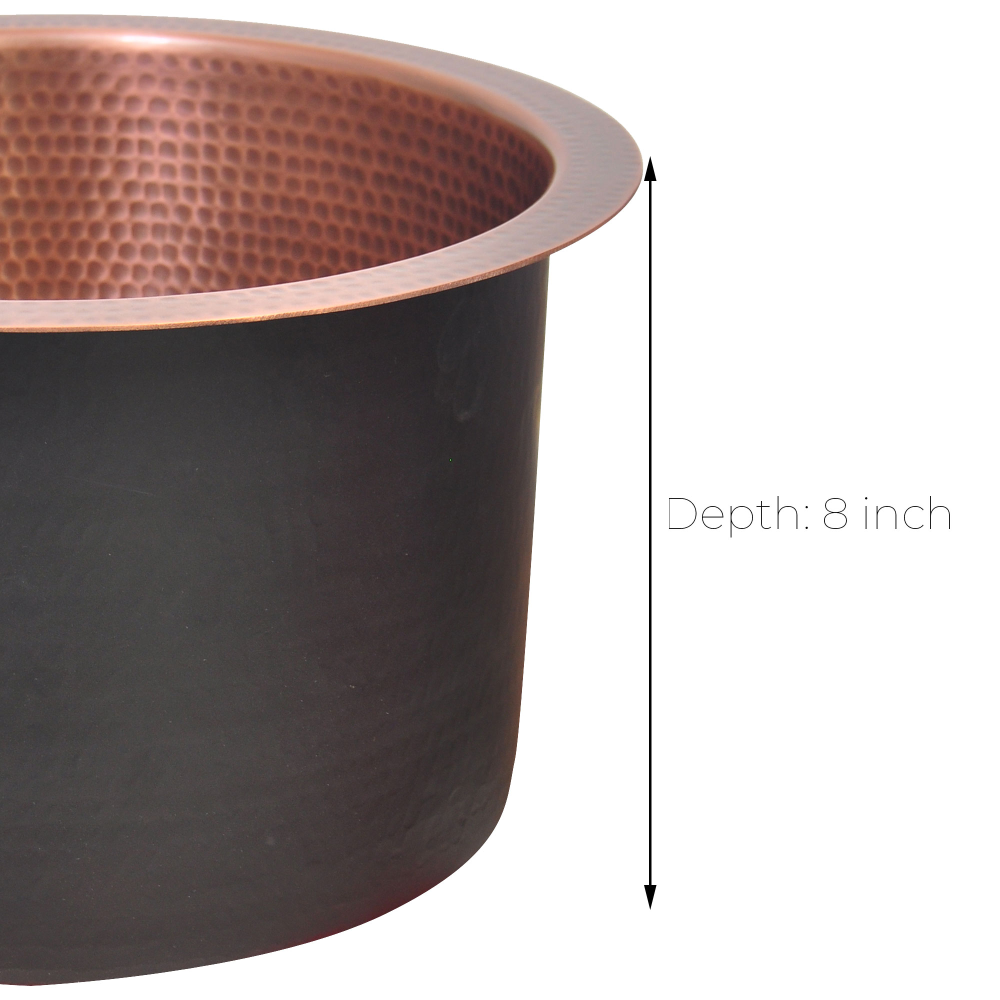 Round Copper Bar Sink