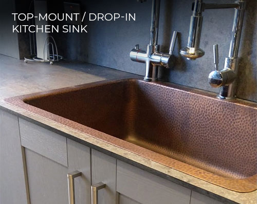 Top Mount Kitchen Sink from Coppersmith Creations