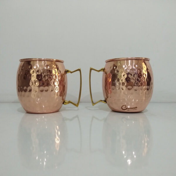 Copper Moscow Mule Mugs Hammered