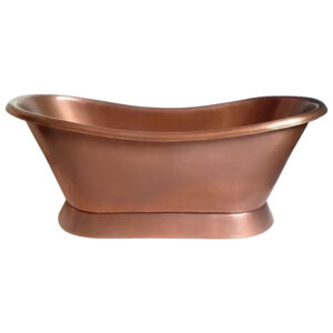 Slanting Base Copper Bathtub Plain Antique Finish