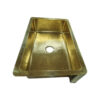 Single Bowl Hammered Front Apron Shining Brass Kitchen Sink