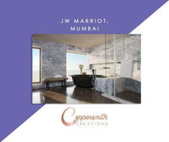 Coppersmith Creations bathtub install at JW Marriot, Mumbai