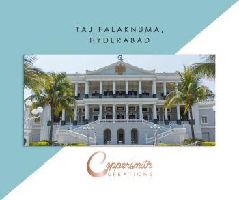 Coppersmith Creations sinks install at Taj Falaknuma, Hyderabad